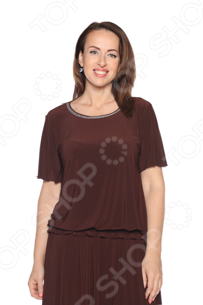 Блуза Pretty Woman «Лови момент». Цвет: шоколадный цена