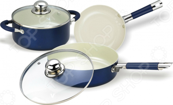 Набор кухонной посуды с внутренним керамическим покрытием Vitesse VS-2223 Vitesse VS-2223 набор посуды vitesse vs 2223
