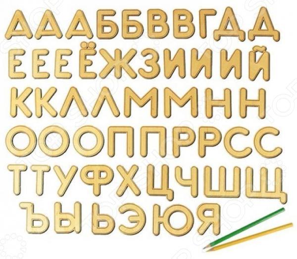 Игрушка развивающая WOODY «Буквы на магнитах»