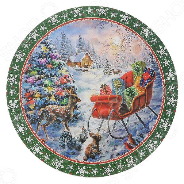 Подставка круглая под горячее Gift'n'home «Рождественские Подарки»