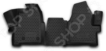 Комплект 3D ковриков в салон автомобиля Novline-Autofamily Ford Tourneo Custom 2013 / 2014 коврик 3d в салон автомобиля novline autofamily ford transit 2014 2015