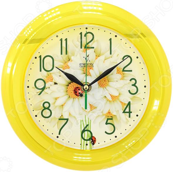 Часы настенные Вега П 6-2-108 «Белые ромашки»