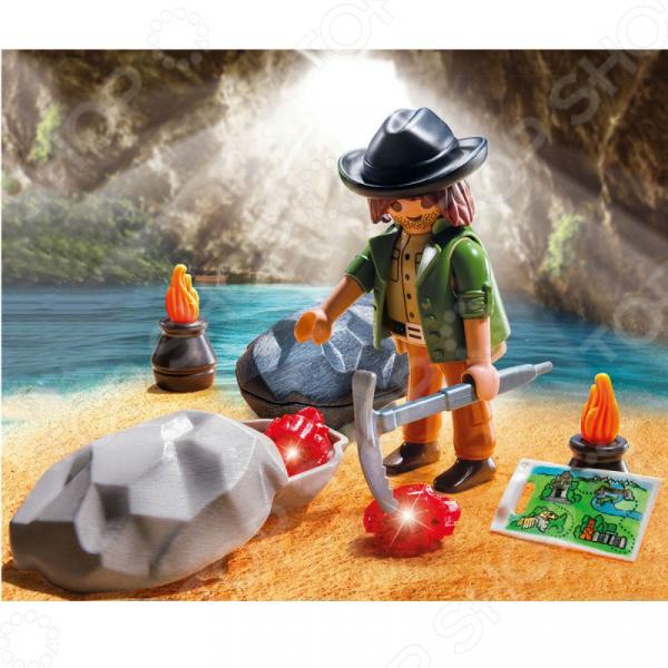 Конструктор игровой Playmobil «Экстра-набор: Охотник за драгоценными камнями»