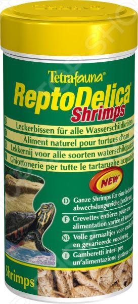 Лакомство для водных черепах Tetra ReptoMin Delica Shrimps корм tetra tetramin xl flakes complete food for larger tropical fish крупные хлопья для больших тропических рыб 10л 769946