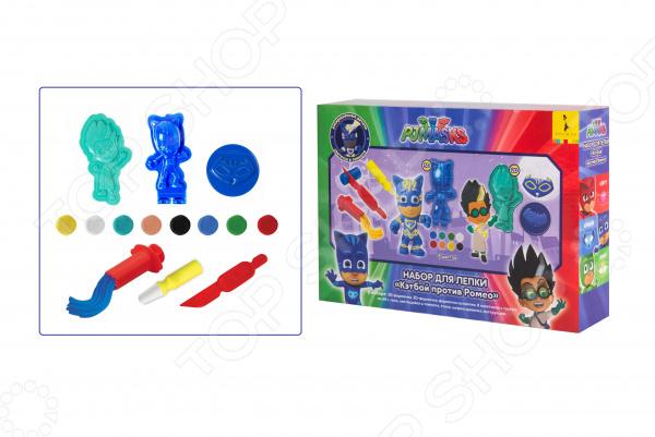 Набор теста для лепки PJ Masks «Кэтбой против Ромео» игрушки для ванны pj masks игровой набор кэтбой и ромео