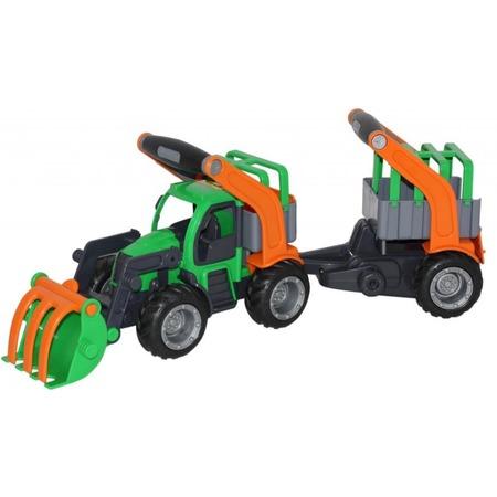 Купить Машинка игрушечная Wader «ГрипТрак. Трактор-погрузчик с полуприцепом для животных»