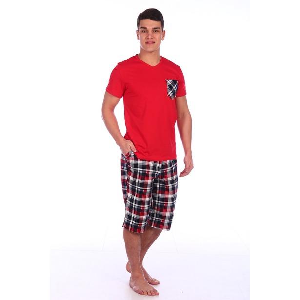 фото Комплект домашний мужской Селтекс КК319. Цвет: красный. Размер: 58