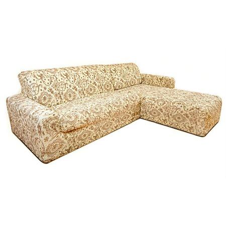 Купить Натяжной чехол на угловой диван с выступом справа Еврочехол «Виста. Флоренция»