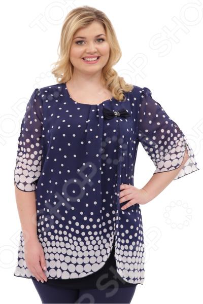 Туника Laura Amatti «Шарлота». Цвет: синий, белый комод шарлота