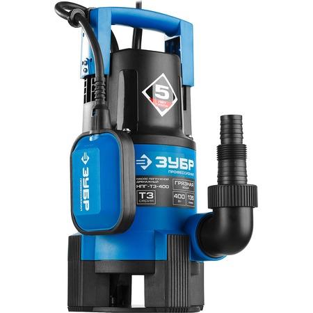 Купить Насос погружной дренажный для грязной воды Зубр «Профессионал» НПГ-Т3-400