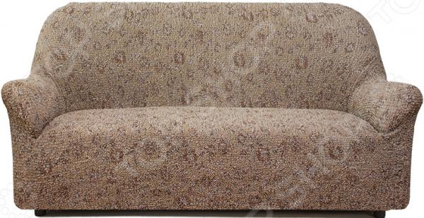 Натяжной чехол на трехместный диван Еврочехол Еврочехол «Виста. Вальс» как купить мебель николаев бу