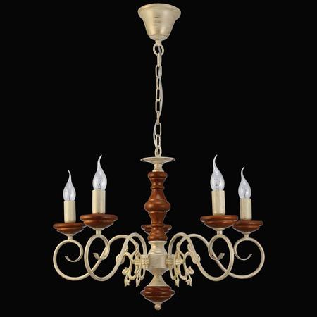 Купить Люстра Natali Kovaltseva Luxury wood 11357/5c White oak, waln