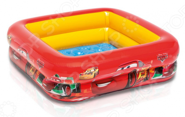 Бассейн надувной детский Intex Cars надувной бассейн intex бассейн аквариум 152 56см