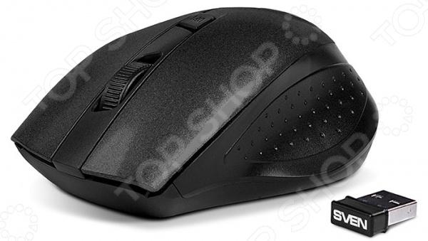 Мышь Sven RX-325 беспроводная мышь sven rx 325 wireless белая 4 клавиши эргономичная форма блистер