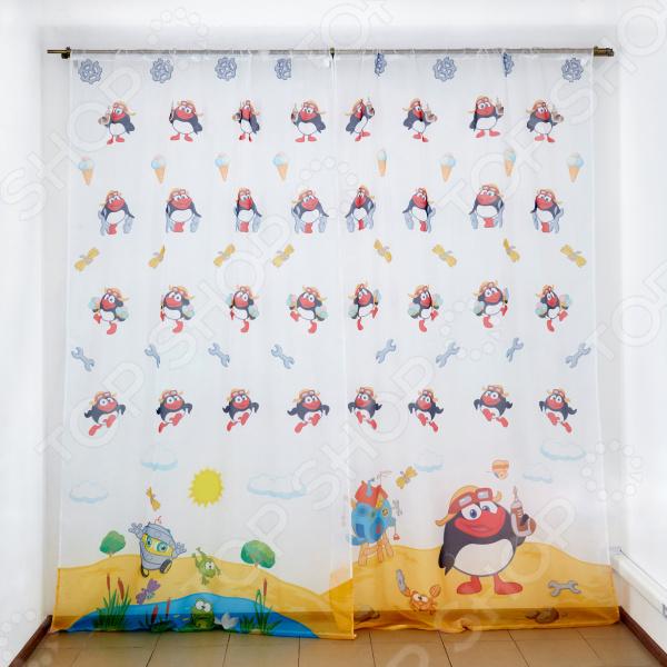 фото Комплект тюля детского Сирень «Пин - изобретатель», Портьеры для детской комнаты