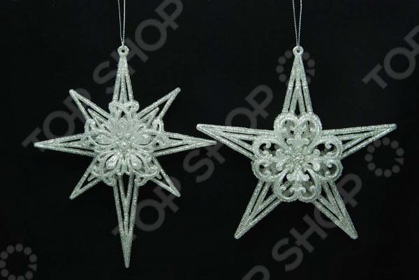 Новогоднее украшение Crystal Deco «Звезда». В ассортименте