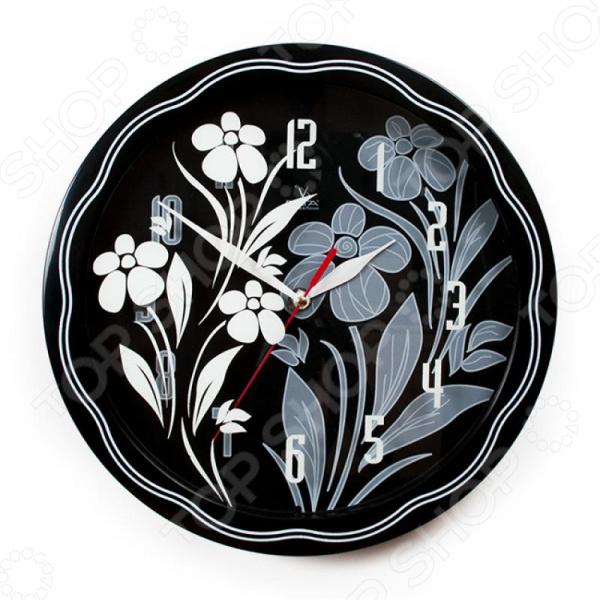 Часы настенные Вега П 1-674/6-304 «Черно-белые ромашки» часы настенные вега п 1 674 6 304 черно белые ромашки