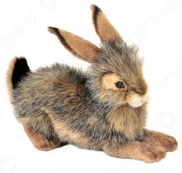 Мягкая игрушка Hansa «Кролик черный» большую мягкую игрушку собаку лежа в москве