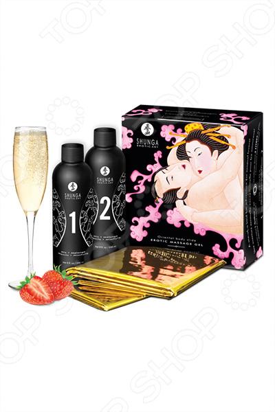 Гель массажный Shunga «Клубника» набор shunga geisha s secret клубника и шампанское 5 предметов