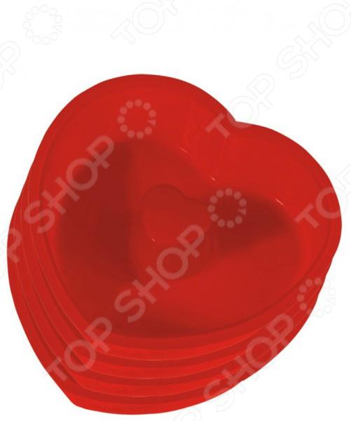 Набор форм для выпечки Regent Silicone «Сердечки»