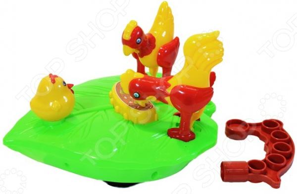 Каталка детская Наша Игрушка с тростью «Птичий двор» каталка детская наша игрушка барабан с шариком в ассортименте
