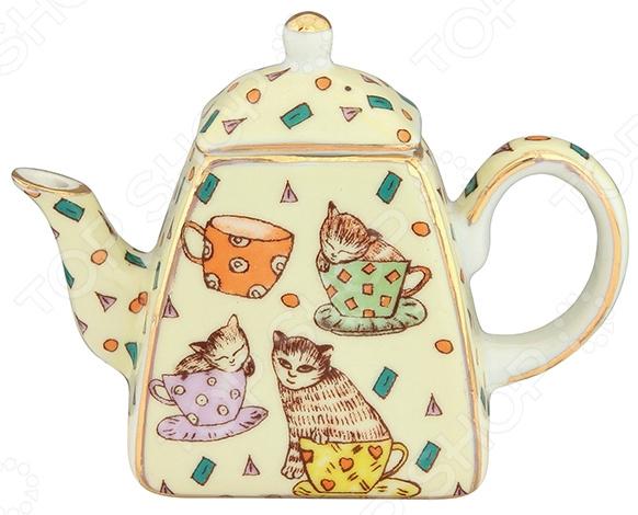 Чайник сувенирный Elan Gallery «Кошки в чашках» Elan Gallery - артикул: 967589