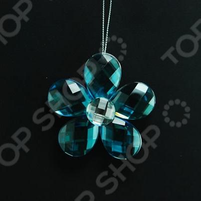 Новогоднее украшение Crystal Deco «Цветок объемный»