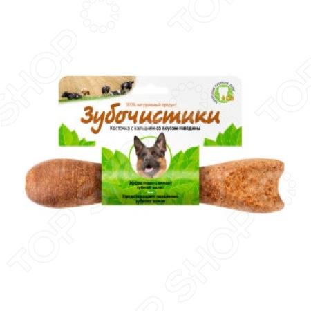 Лакомство жевательное для собак «Зубочистики. Косточка с кальцием и вкусом говядины»