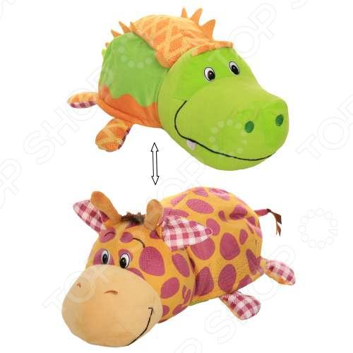 Фото - Мягкая игрушка 1 Toy «Вывернушка Ням-Ням 2в1: Крокодильчик-Жираф» мягкая игрушка 1 toy вывернушка 2в1 розовый кот мышка