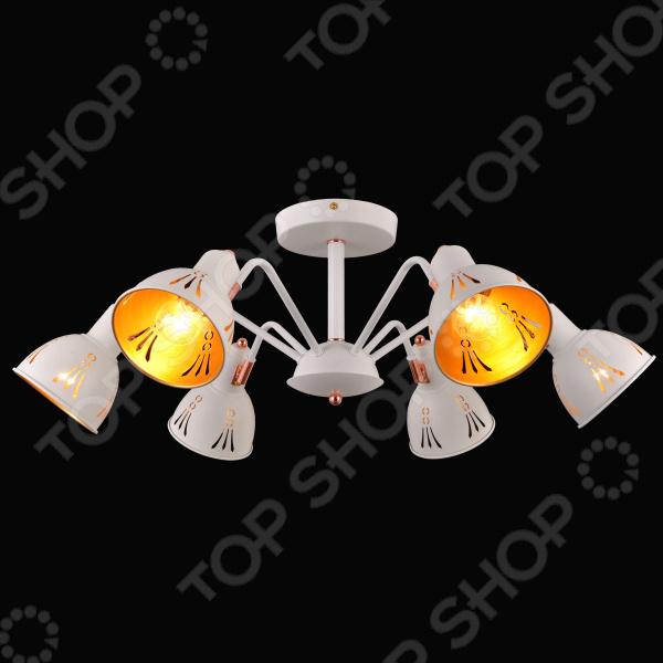 Люстра Natali Kovaltseva Favorit 75097/6c White usb перезаряжаемый высокой яркости ударопрочный фонарик дальнего света конвой sos факел мощный самозащита 18650 батареи