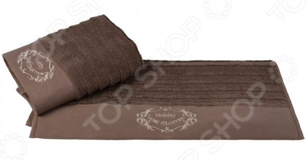 Полотенце махровое Hobby Home Collection Zafira. Цвет: коричневый