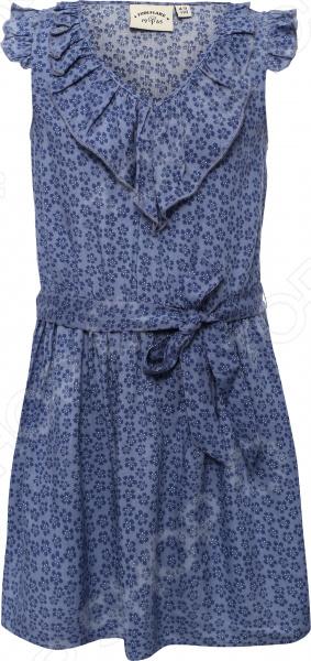 Платье для девочки Finn Flare KS16-71012. Цвет: голубой
