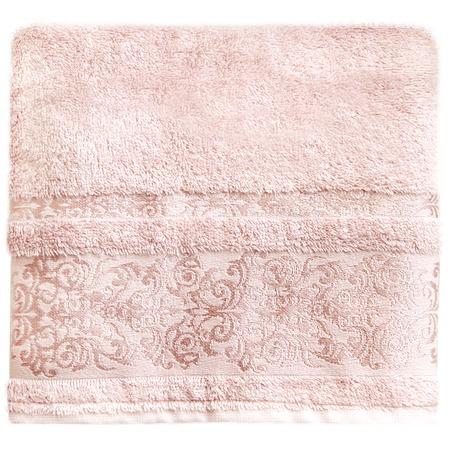 Купить Полотенце банное BONITA «Дамаск». Цвет: персиковый