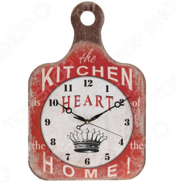Часы настенные Mitya Veselkov «Кухонная доска - Сердце дома»