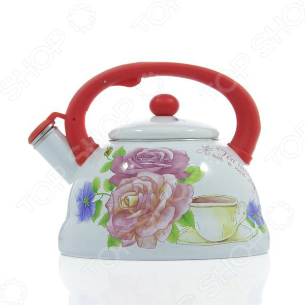 Чайник со свистком Mayer&Boch «Розы» MB-23083