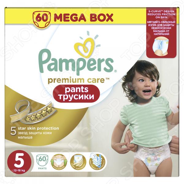 Трусики-подгузники Pampers Premium Care Pants 12-18 кг, размер 5, 60 шт.
