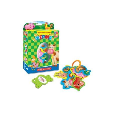 Купить Книжка-игрушка Vladi Toys на кольцах «Ферма»