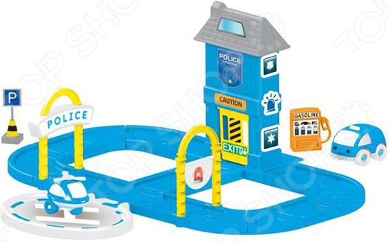 Набор игровой для мальчика Dolu «Полицейская станция с круговой дорогой»
