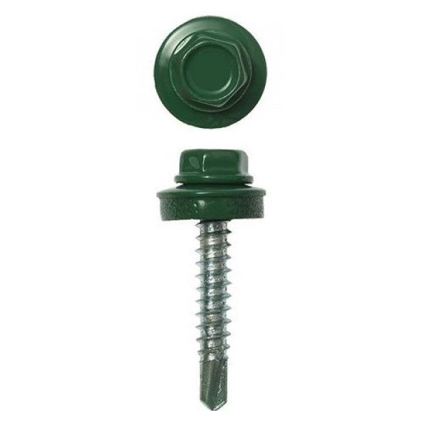 фото Набор саморезов кровельных Stayer СКД для деревянной обрешетки. Цвет: зеленый