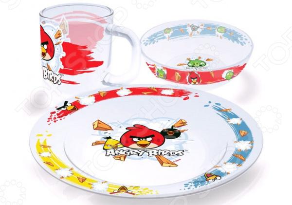 Набор детской посуды Angry Birds Classic
