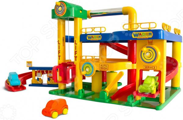 Набор игровой для мальчика Wader «Гараж с автомобилями»