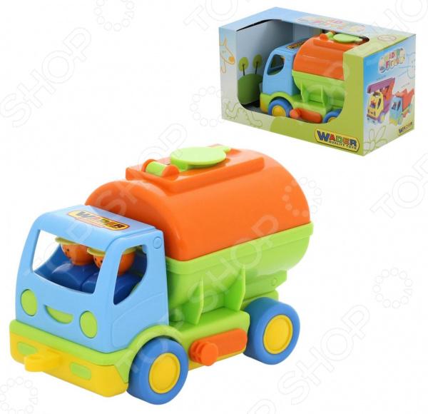 Машинка игрушечная Wader «Мой первый грузовик» с цистерной автомобиль с цистерной полесье мой первый грузовик в сеточке 5441
