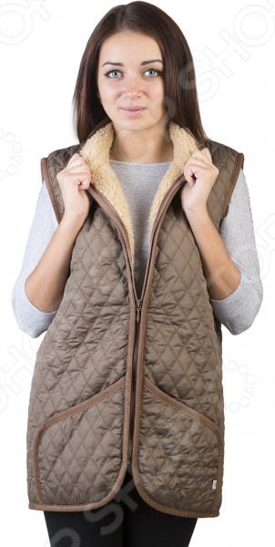 Жилет утепленный WoolHouse «Этно». Цвет: коричневый жилет утепленный мужской woolhouse матео