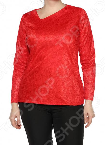 Блуза Jenks «Счастливое настроение». Цвет: коралловый блуза jenks счастливое настроение цвет фиолетовый