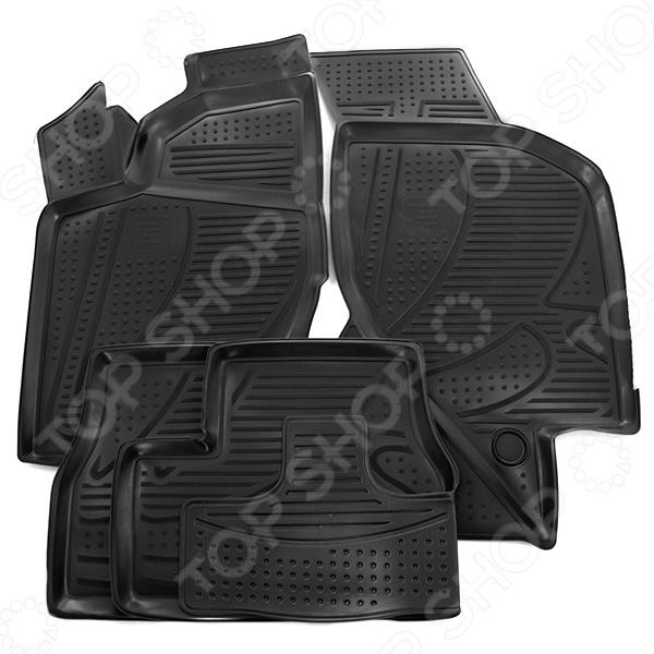 Комплект 3D ковриков в салон автомобиля Novline-Autofamily LADA Granta 2011