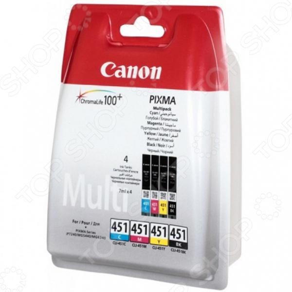 Картридж струйный Canon CLI-451C/M/Y/Bk цена 2017
