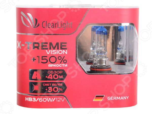 Комплект автоламп галогенных ClearLight X-treme Vision HB3 12V-60W лампа hb3 clearlight 12v 60w x treme vision 150