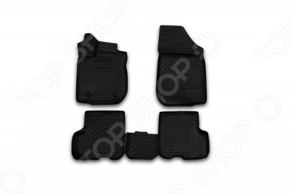 Комплект 3D ковриков в салон автомобиля Novline-Autofamily Renault Logan / Logan MCV 2014 комплект ковриков в салон автомобиля novline autofamily toyota camry 2011 2014 2014