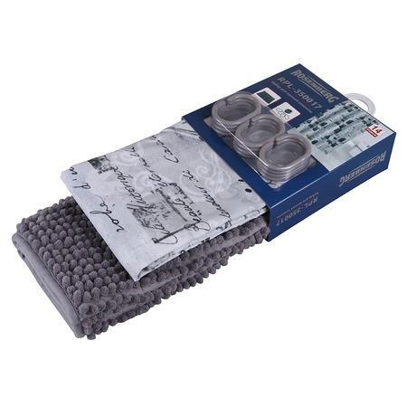Купить Набор: штора и коврик для ванной комнаты Rosenberg RPL-350017