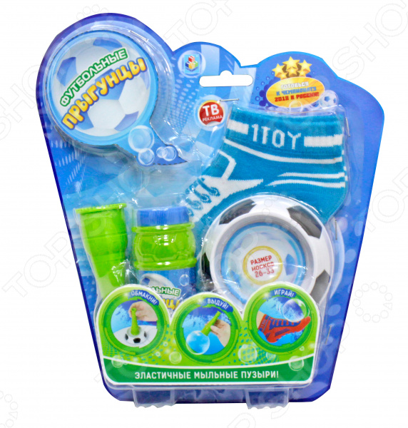 Мыльные пузыри с аксессуарами 1 Toy «Футбольные Прыгунцы» Мыльные пузыри с аксессуарами 1 Toy «Футбольные Прыгунцы» /26-33